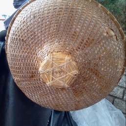 Bamboo hat, Shing Mun River, Sha Tin.