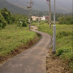 Winding path near Sha Lo Wan, Lantau Island.